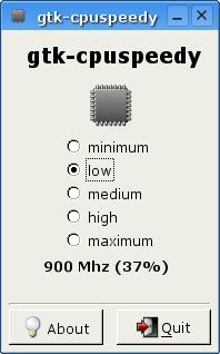 GTK CPUspeedy