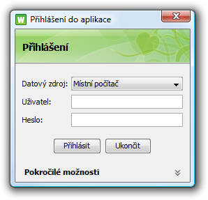 winstrom login dialog cs