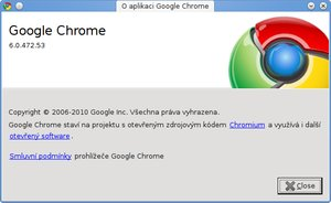 google chrome 6 about