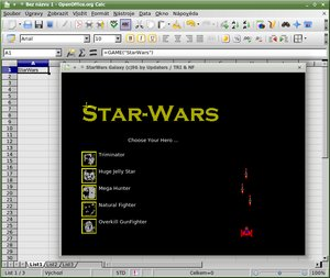 easter egg ooo calc star wars2
