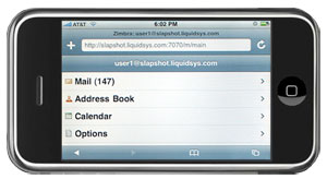 zimbra wap iphone