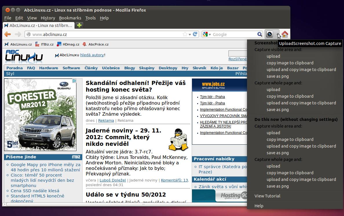 Rozšíření pro Firefox a Chrome  Screenshoty webu 7bb685897f