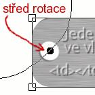 GIMP 15 Umístění středu rotace