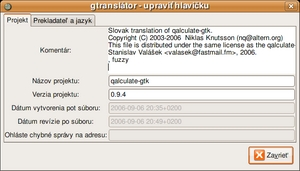 preklad - gtranslator header