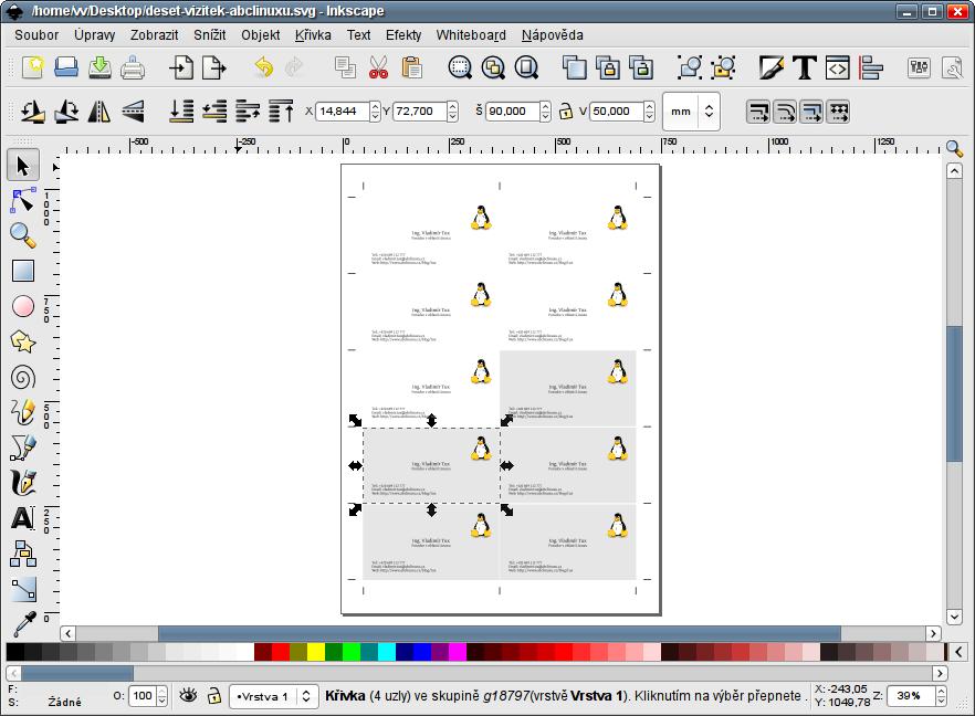 Ořezové značky inkscape
