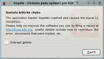 kde4.1 kopete crash
