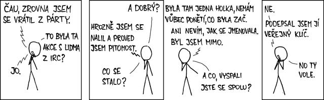 Komiks xkcd 364: Zodpovědné chování