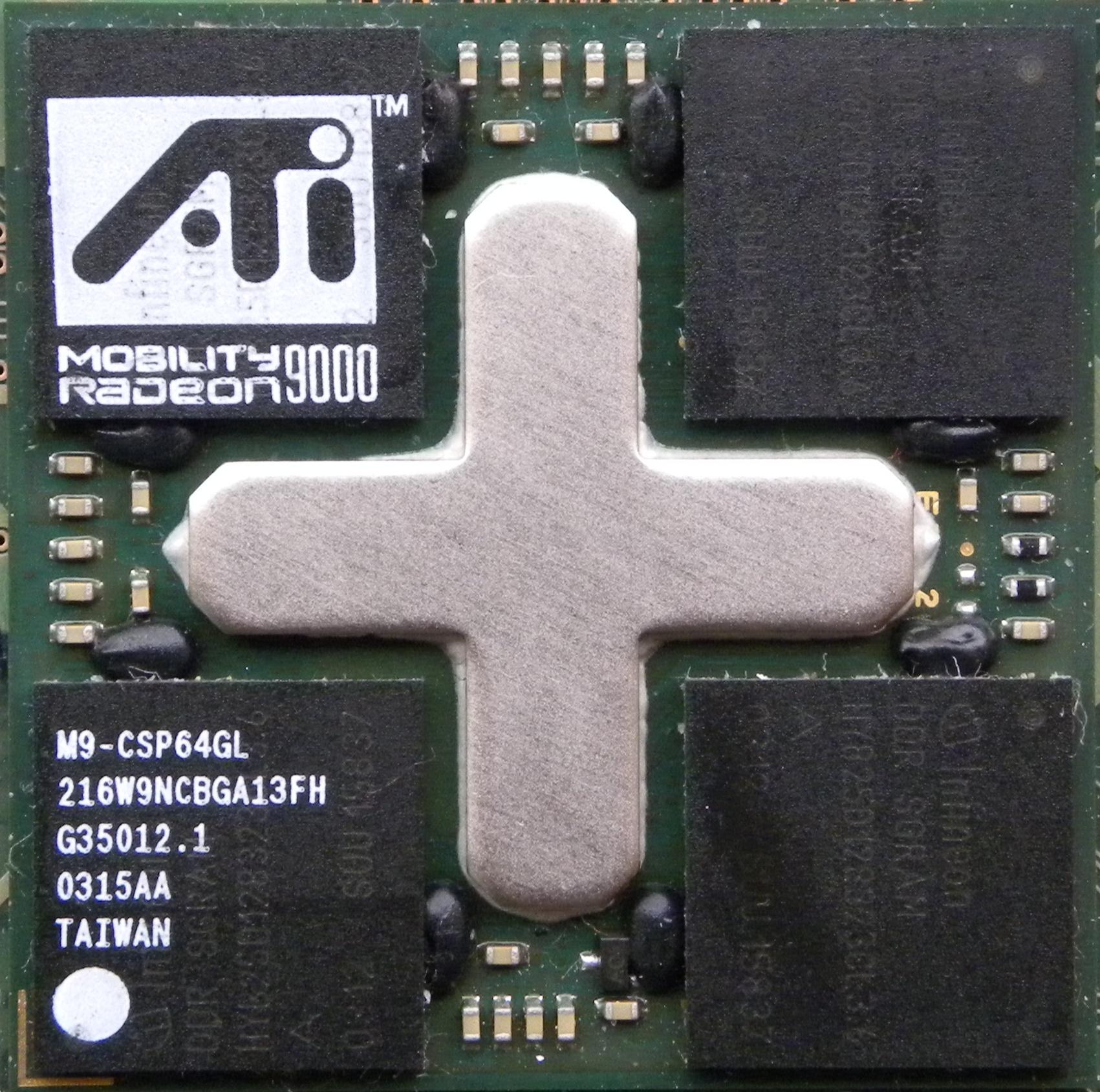 ATI Mobility Radeon 9000, obrázek 1