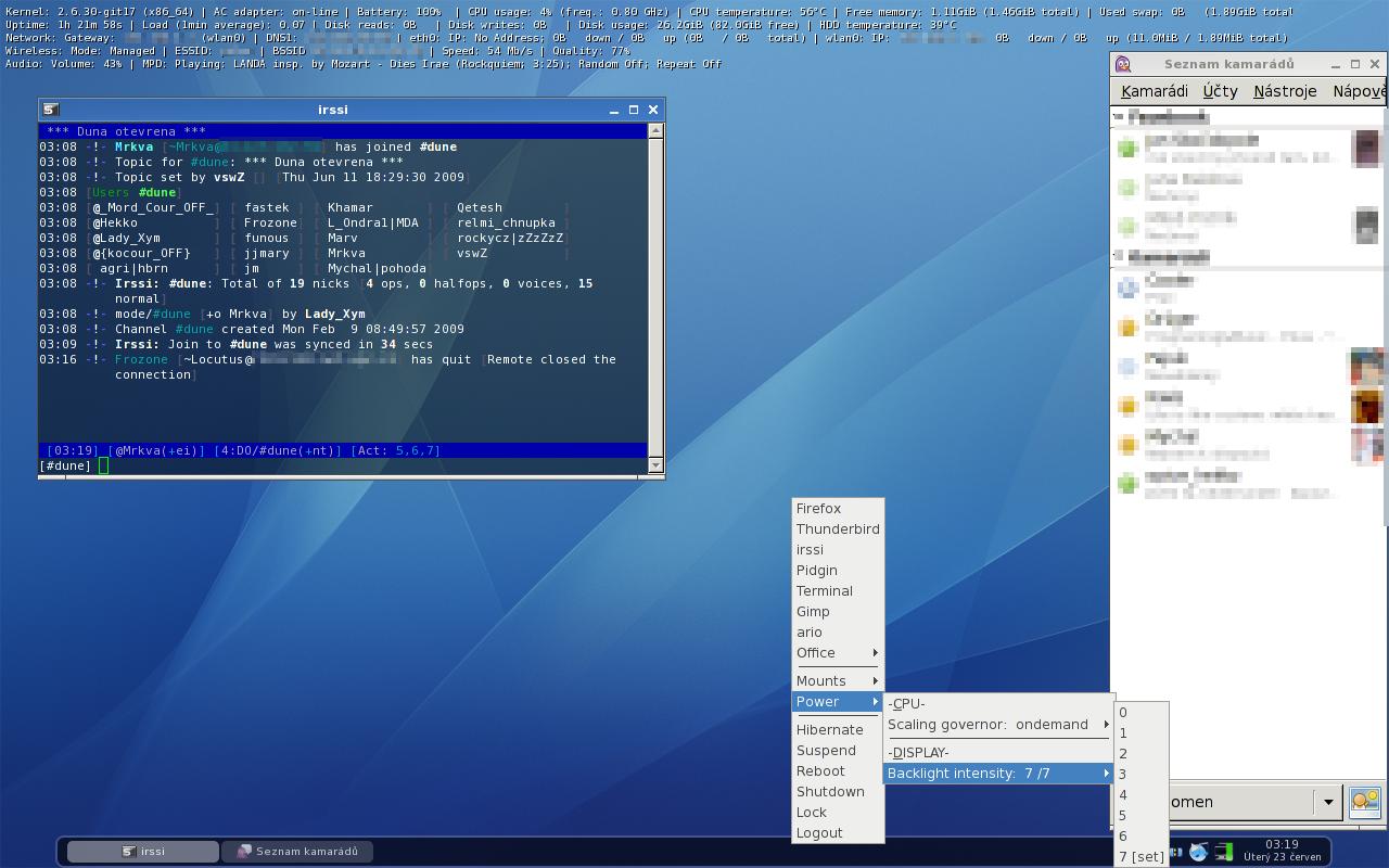 Arch - openbox, conky, tint2, xcompmgr - desktop