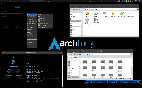 BACK TO THE LINUX! (Arch + Openbox)