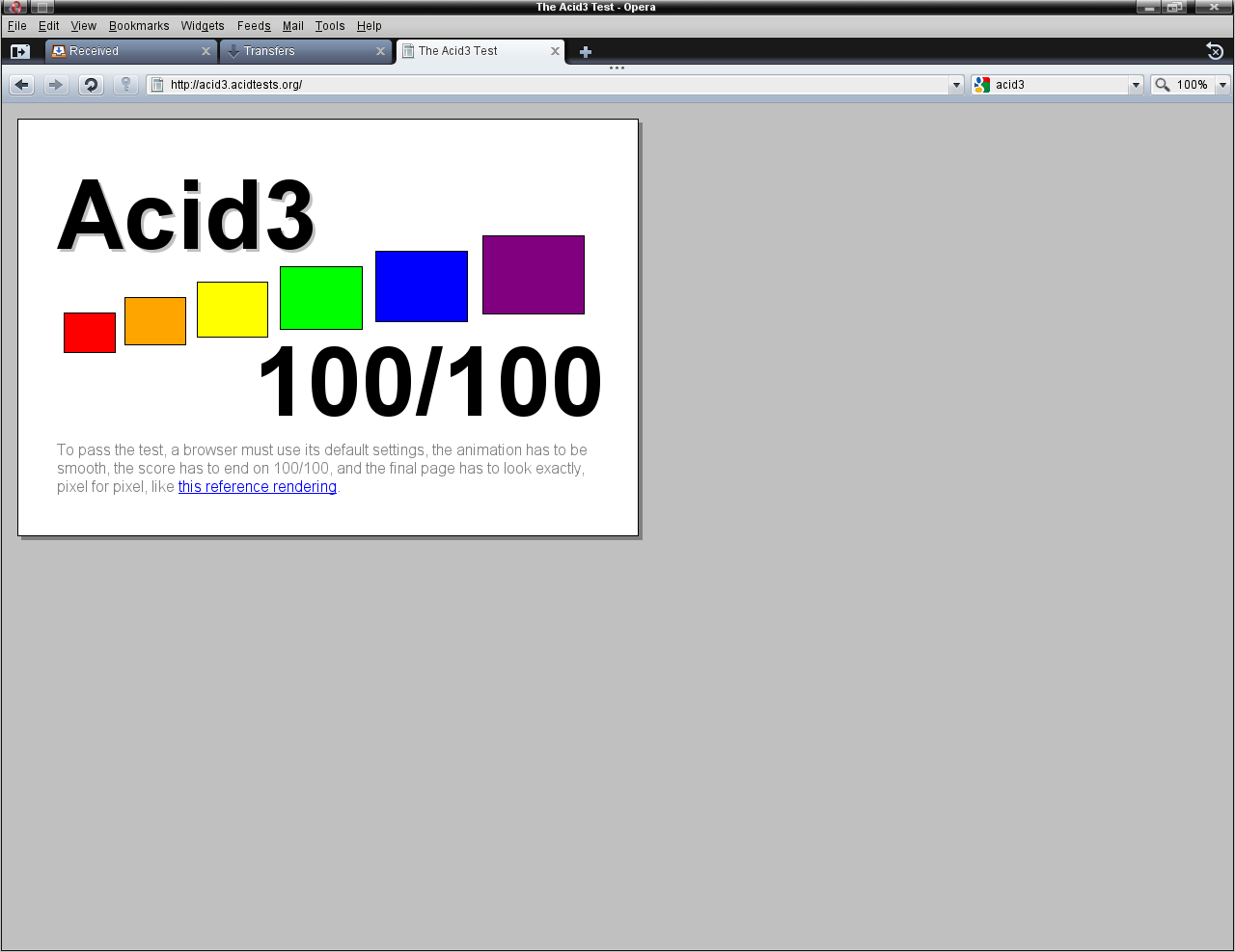 Acid3 - 100/100