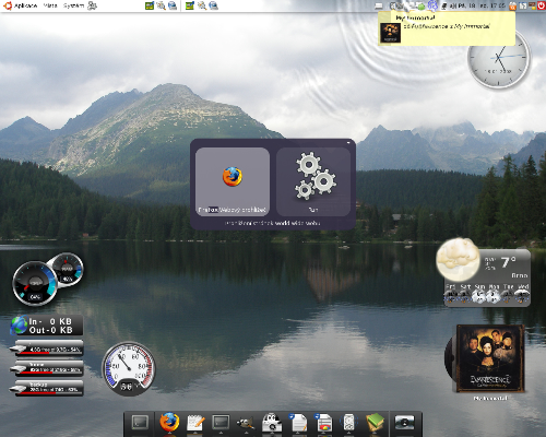 AWN+Screenlets+Gnome-do