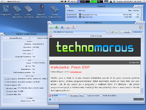 "MorphOS na 12"" iBook G4"