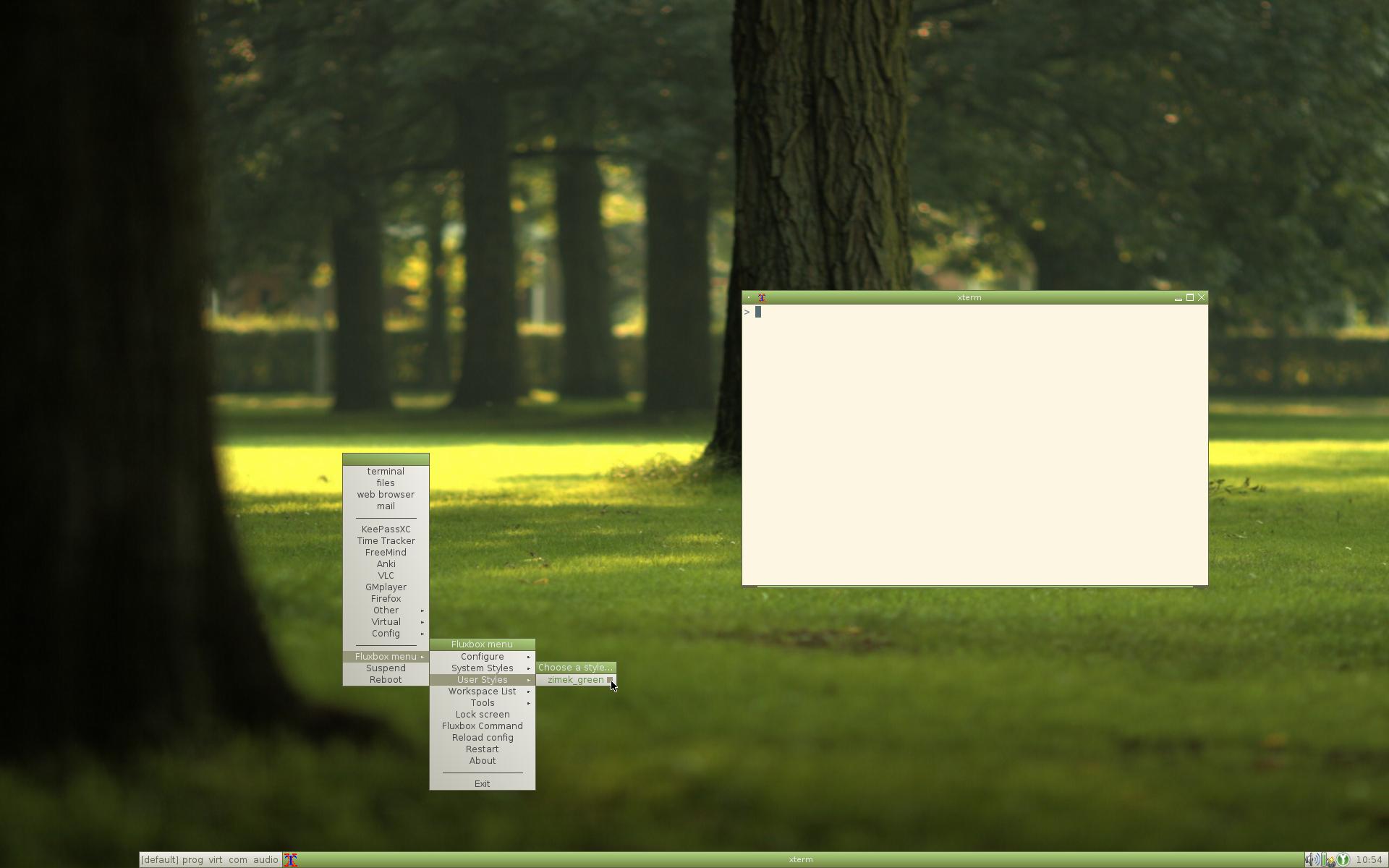 Fluxbox - desktop